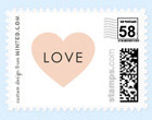 Pink Heart Love Stamp