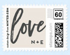 Script Monogram Love Stamp