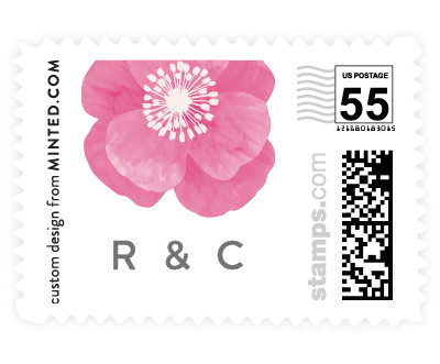 'Autumn Florals (C)' wedding stamp