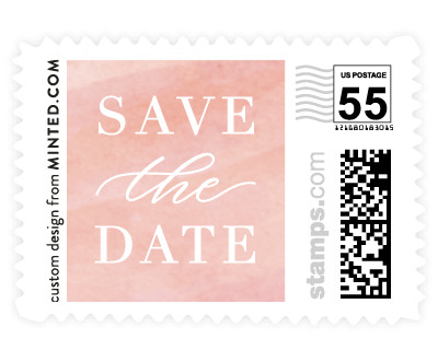 'Seaside Watercolor (D)' wedding stamp