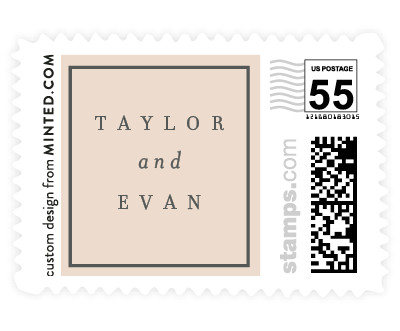 'Blushing Xoxo' postage stamps