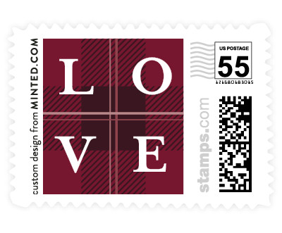 'Plaid About Love' wedding stamps
