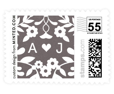 'Paper Flowers' wedding postage