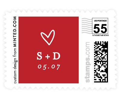 'Oh My Heart (E)' postage stamp