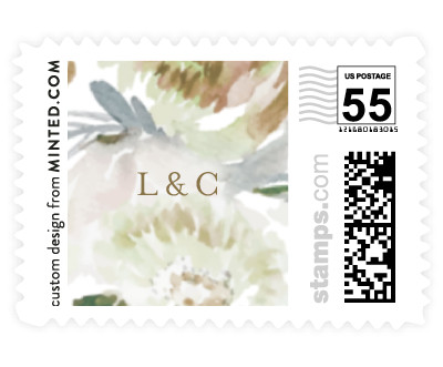 'Romantic Bouquet (B)' wedding postage