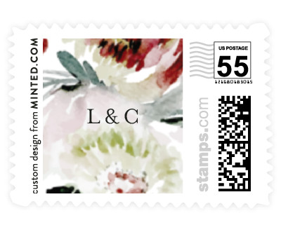 'Romantic Bouquet (C)' wedding stamp