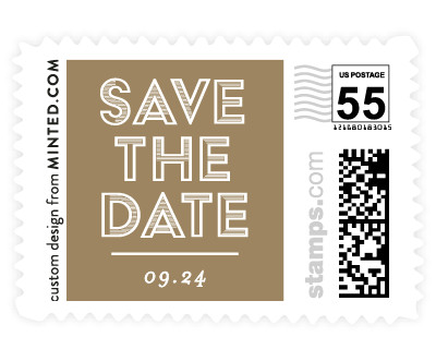 'Gilded And Geometric (B)' stamp