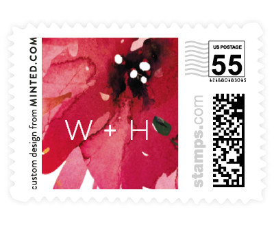 'Peeking Florals (B)' wedding postage