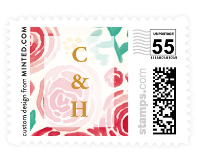 'In Tandem (B)' wedding postage