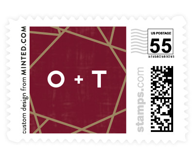 'Gilded Concrete (C)' wedding stamp