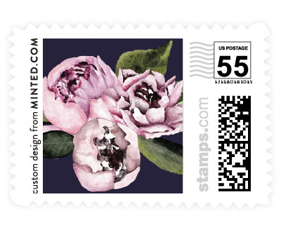 'Peony (D)' postage stamps