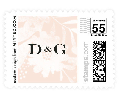 'Floral Screenprint (D)' wedding postage