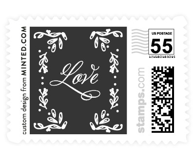 'Tiny Initials' wedding postage