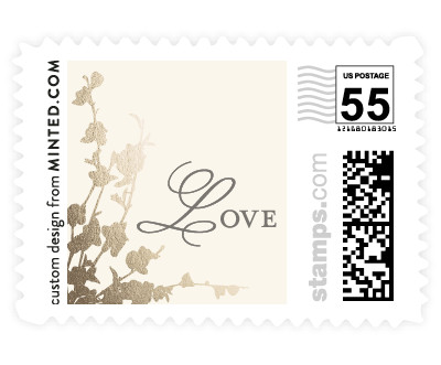 'In Bloom (B)' wedding stamp
