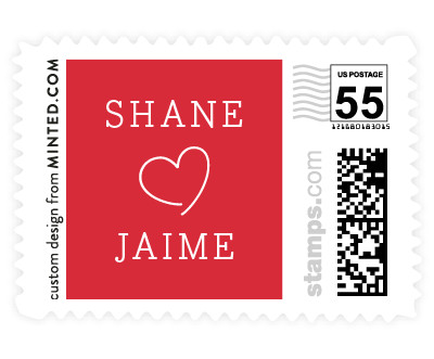 'Heart Love (D)' stamp