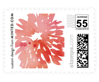 'Watercolor Delight (E)' postage stamp