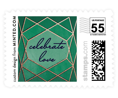 'Abstract Jewel (D)' wedding stamp
