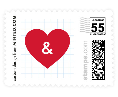 'Textbook Love Story (C)' postage stamp