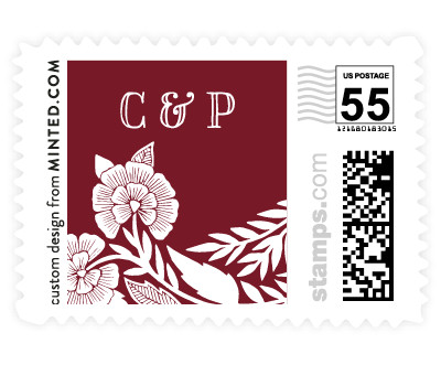 'Block Printed Border (D)' wedding stamps