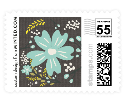 'Botanical Blooms' wedding stamp