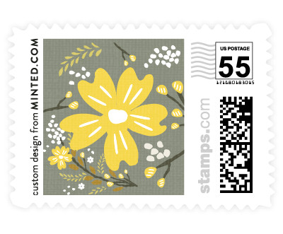 'Botanical Blooms (C)' stamp design