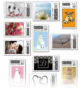 Custom Postage Wedding Stamps