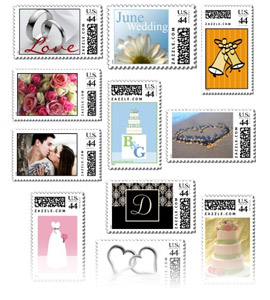 Custom Wedding Postage