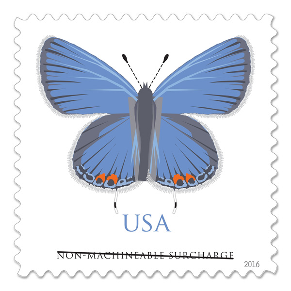 Eastern Tailed-Blue non-machineable stamp