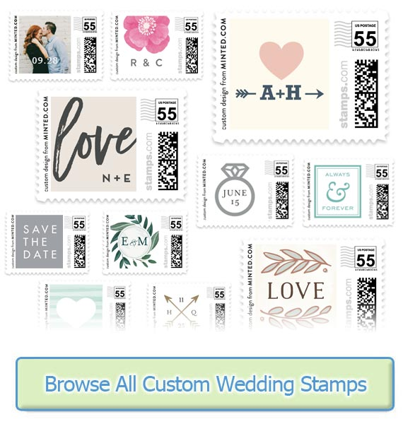 Usps wedding stamps rates for 2018 wedding stamps for Post office design your own stamps